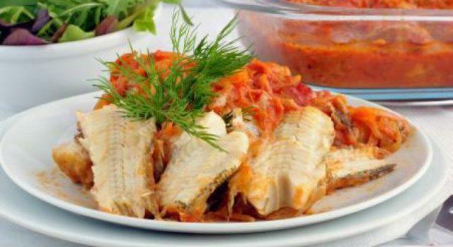 Dinstana riba sa povrćem